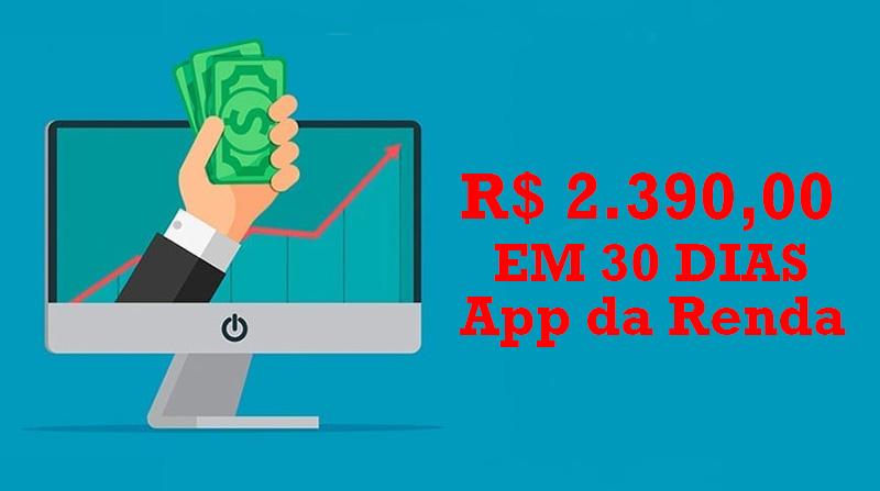 app da renda ganhar dinheiro